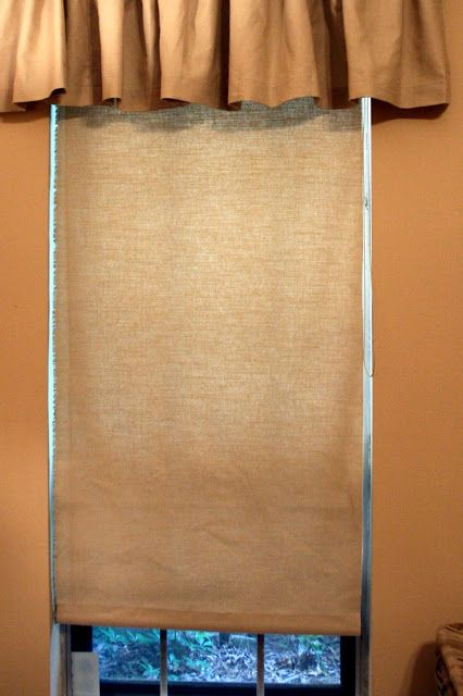 How to make semi-homemade roller shades