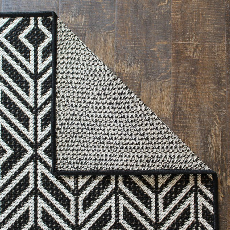 Moura Black/White Indoor/Outdoor Area Rug #outdoorrugs