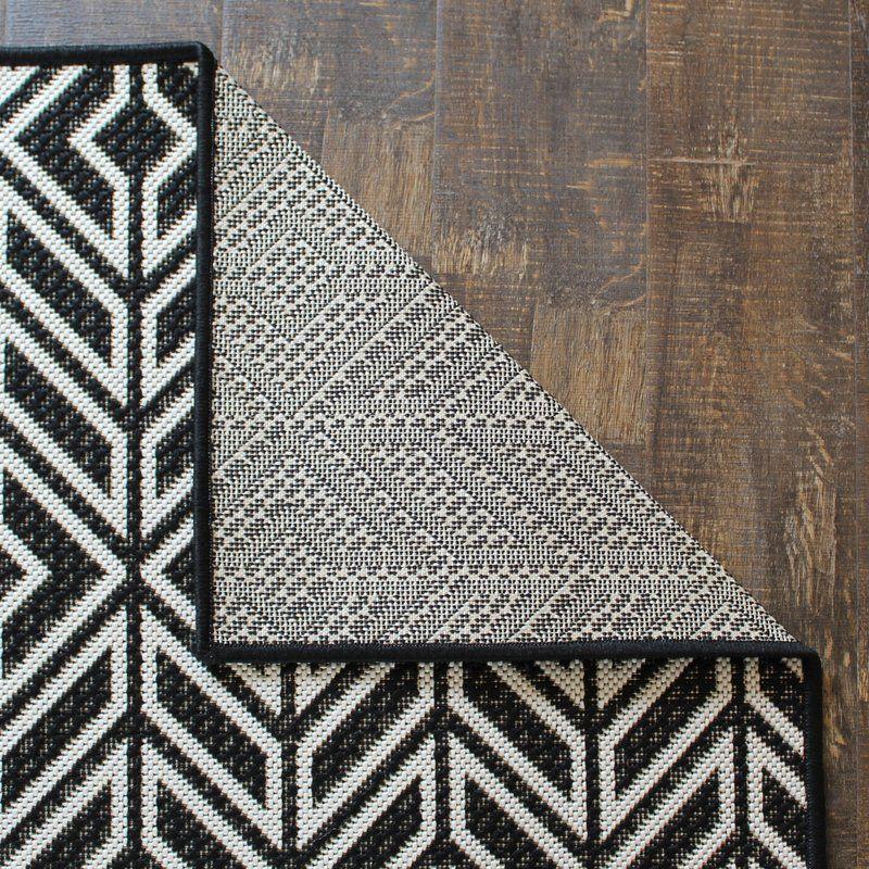 Moura Black White Indoor Outdoor Area Rug Outdoor Rugs Outdoor