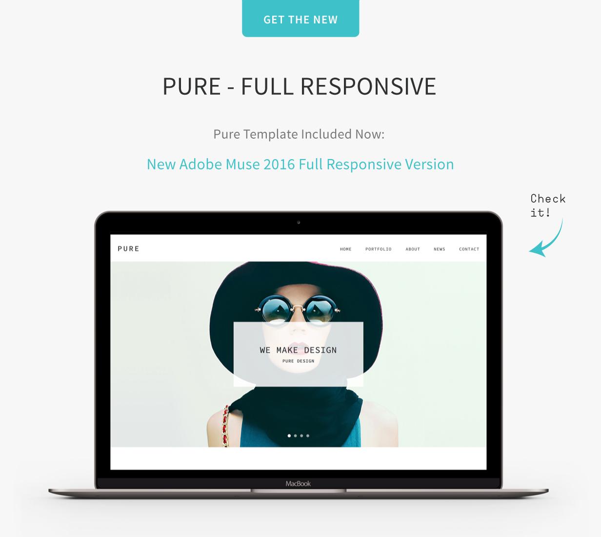 Pure - Responsive Creative Portfolio Muse Template   Creative ...