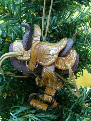 New Midwest Western Horse Saddle Ridding Cowboy Christmas Tree Ornament