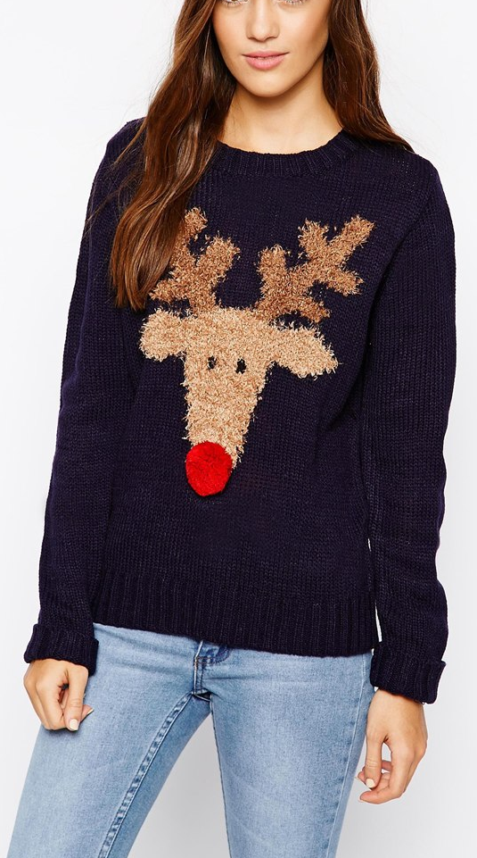 Cute reindeer sweater | Cold Weather Outfits | Reindeer ...