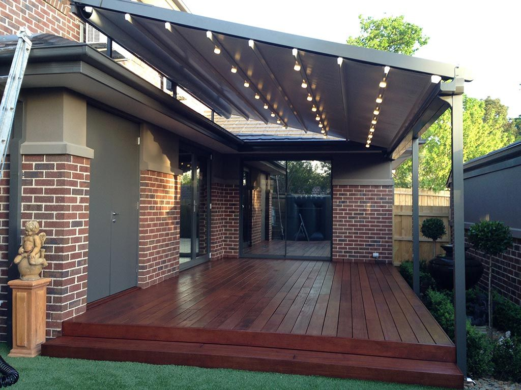 Pergola with Retractable Shade Canopy | Diy patio cover ...