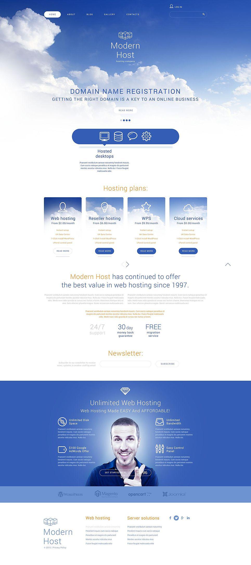 Unlimited Web Hosting Joomla Template Joomla Templates Web Hosting Joomla