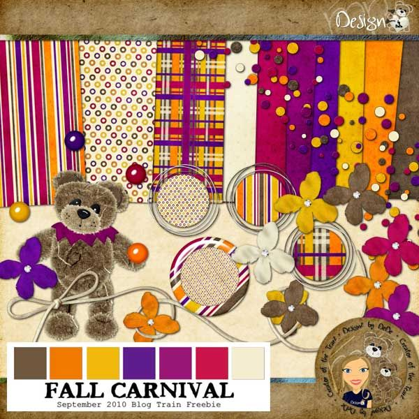 DesignZ by DeDe: September 2010 Blog Train - Fall Carnival