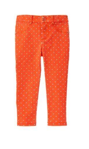 03380d88331e NEW Gymboree PREP PERFECT Orange White Dot Denim Pant Adjustable ...