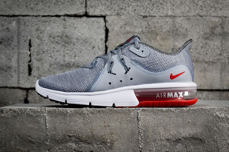 official photos 747ef 6055f Purchase New Nike Air Max Sequent 3 Cool Grey Red Wolf Grey 921694-060  Youth Big Boys Shoes