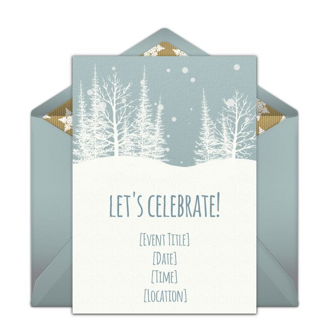 Free Winter Woods Invitations Holiday Party Invitations - Party invitation template: winter party invitation template free