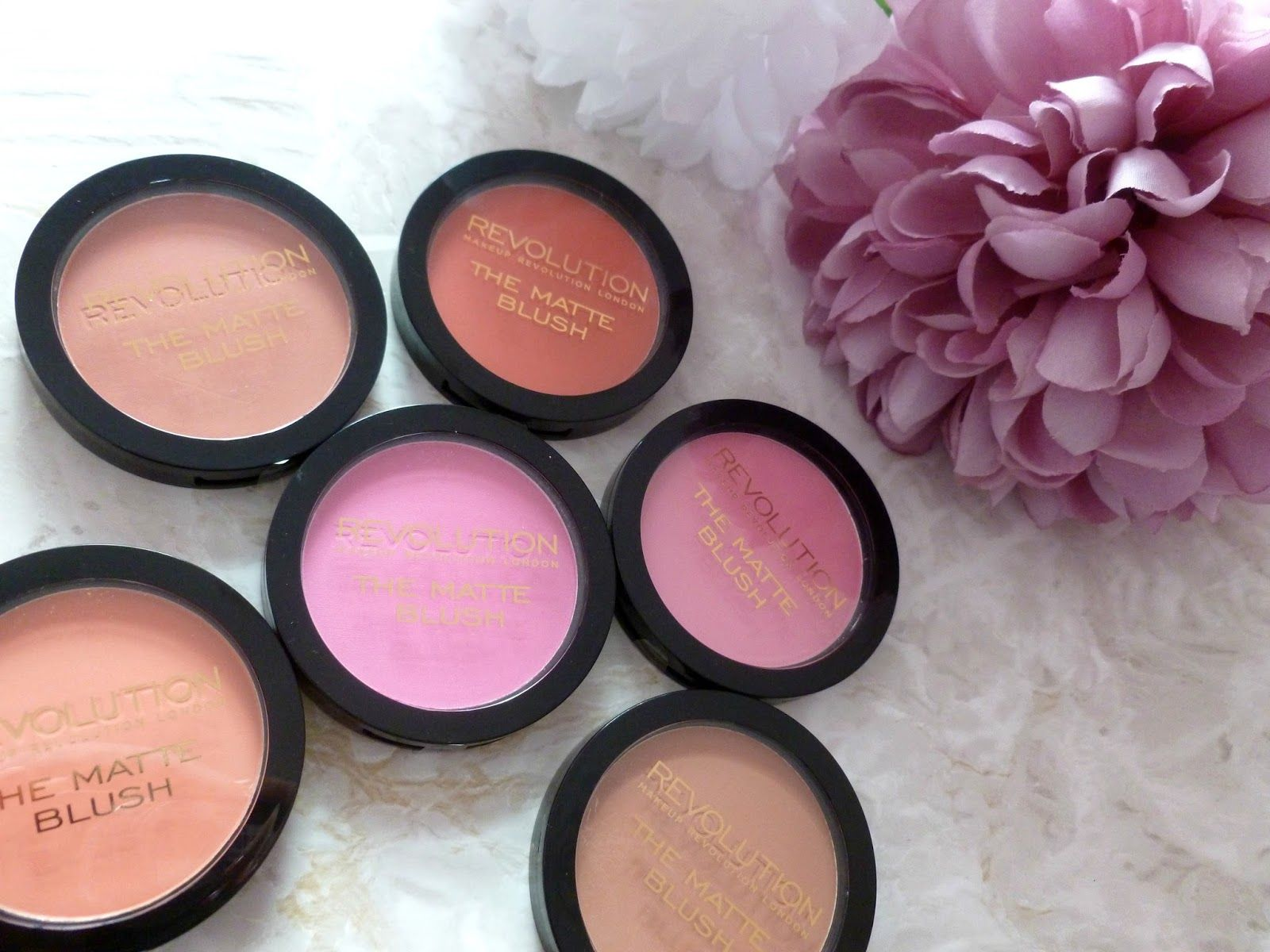 Makeup Revolution Matte Blush Collection Review And
