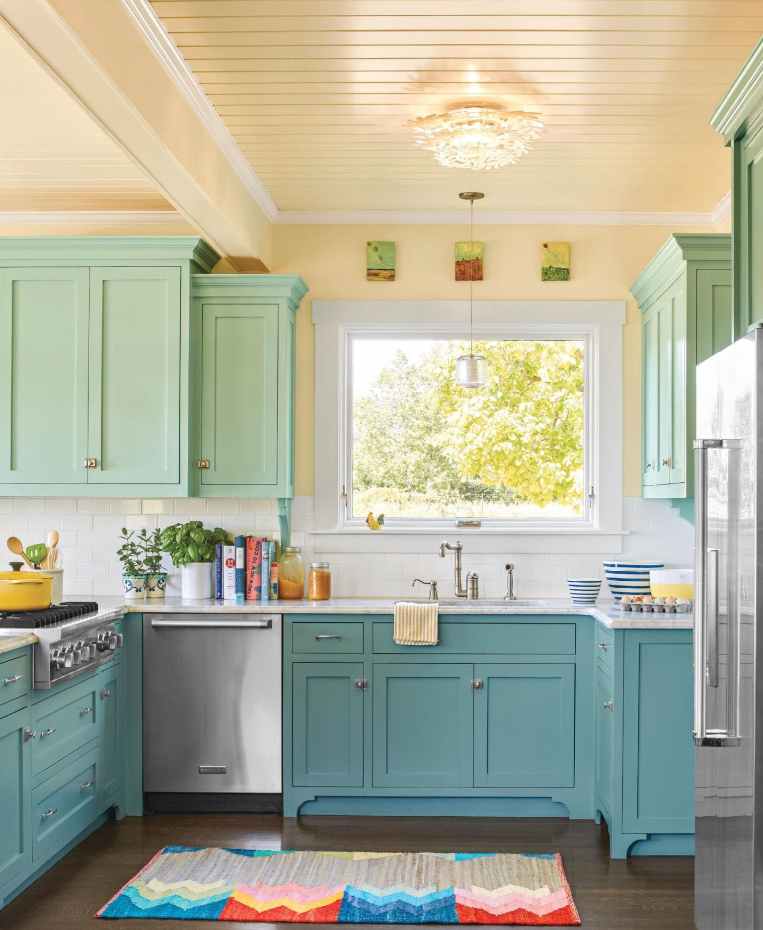 Country Kitchen Teal Green This Old House Funky Kitchen Kitchen Colors White Modern Kitchen