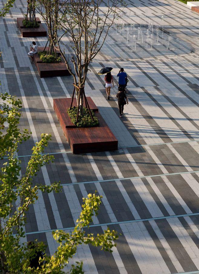 Pin By Thisisling On Pavement Pavement Design Plaza Design Modern Landscape Design