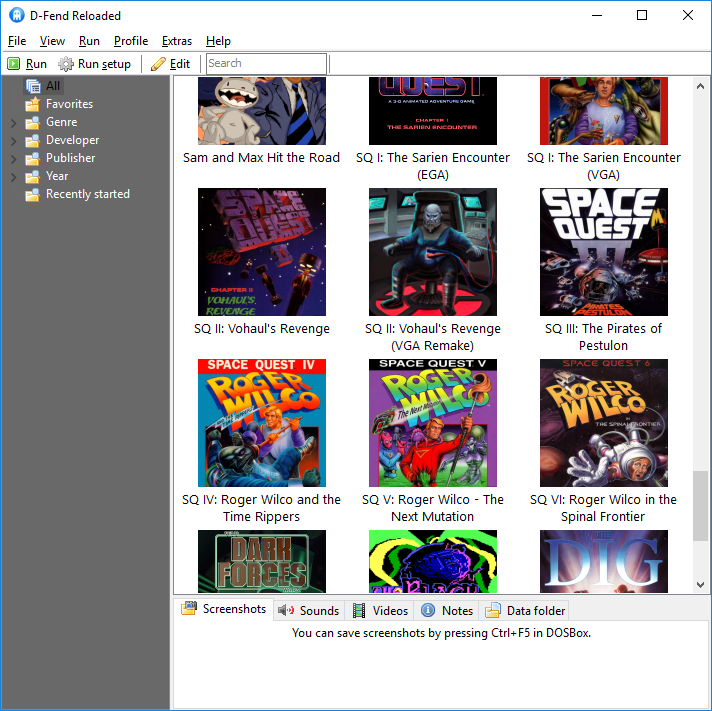 Here's a look at a DOS-era games collection I've been working on for