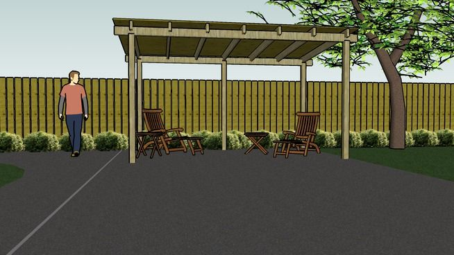 Patio Lean To Shelter   3D Warehouse