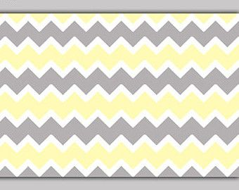 CHEVRON YELLOW OMBRE Wallpaper Border Wall Decals By Decampstudios