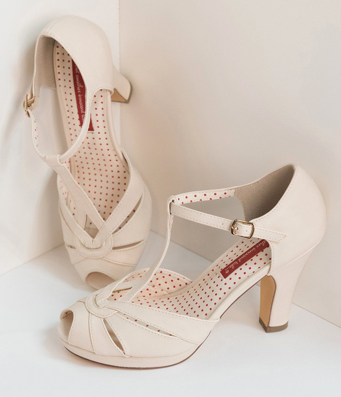 Cream Flapper Womens Shoes