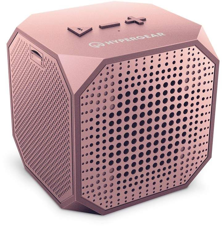 Rose Gold HyperGear Sound Cube Wireless Speaker - A stylish Bluetooth speaker with a quality, powerful sound. Teens will love to hook this up to their phones for 8 hours of play. #speaker #giftsforher