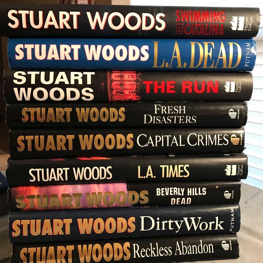 LOT OF 9 STUART WOODS Suspense Barrington Novels HB Books  | eBay