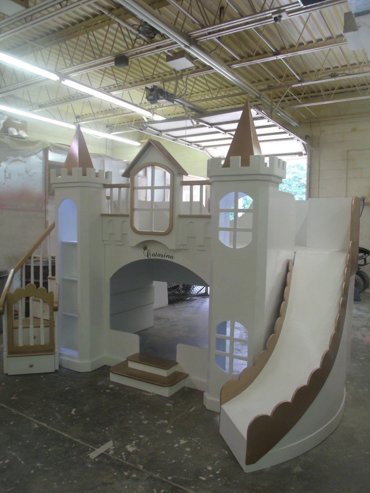New Custom Princess Catarina Castle Loft Bed eBay Play