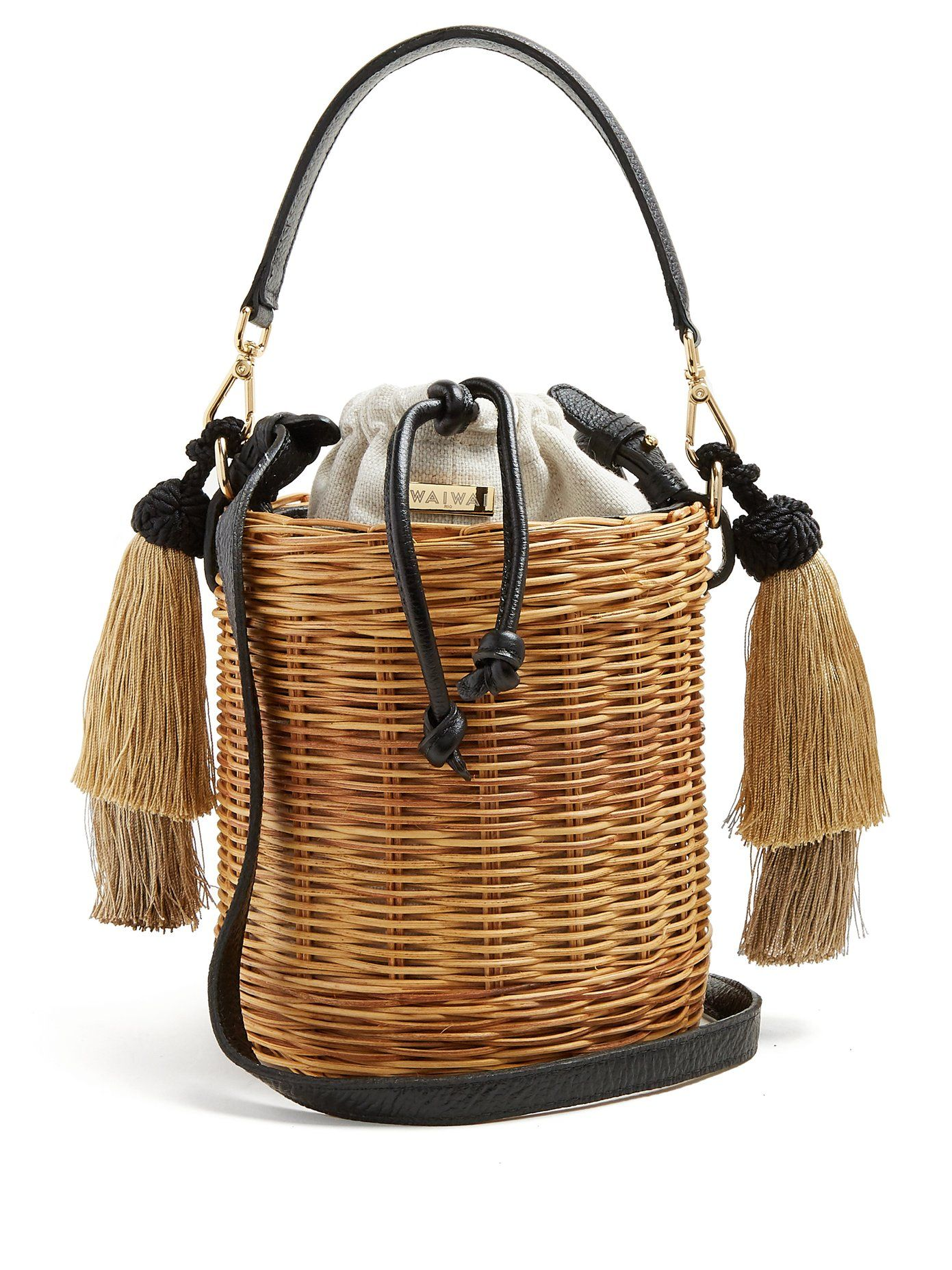 e82164d0e1bb Sabia woven-rattan bucket bag | Wai Wai | MATCHESFASHION.COM | Eco ...
