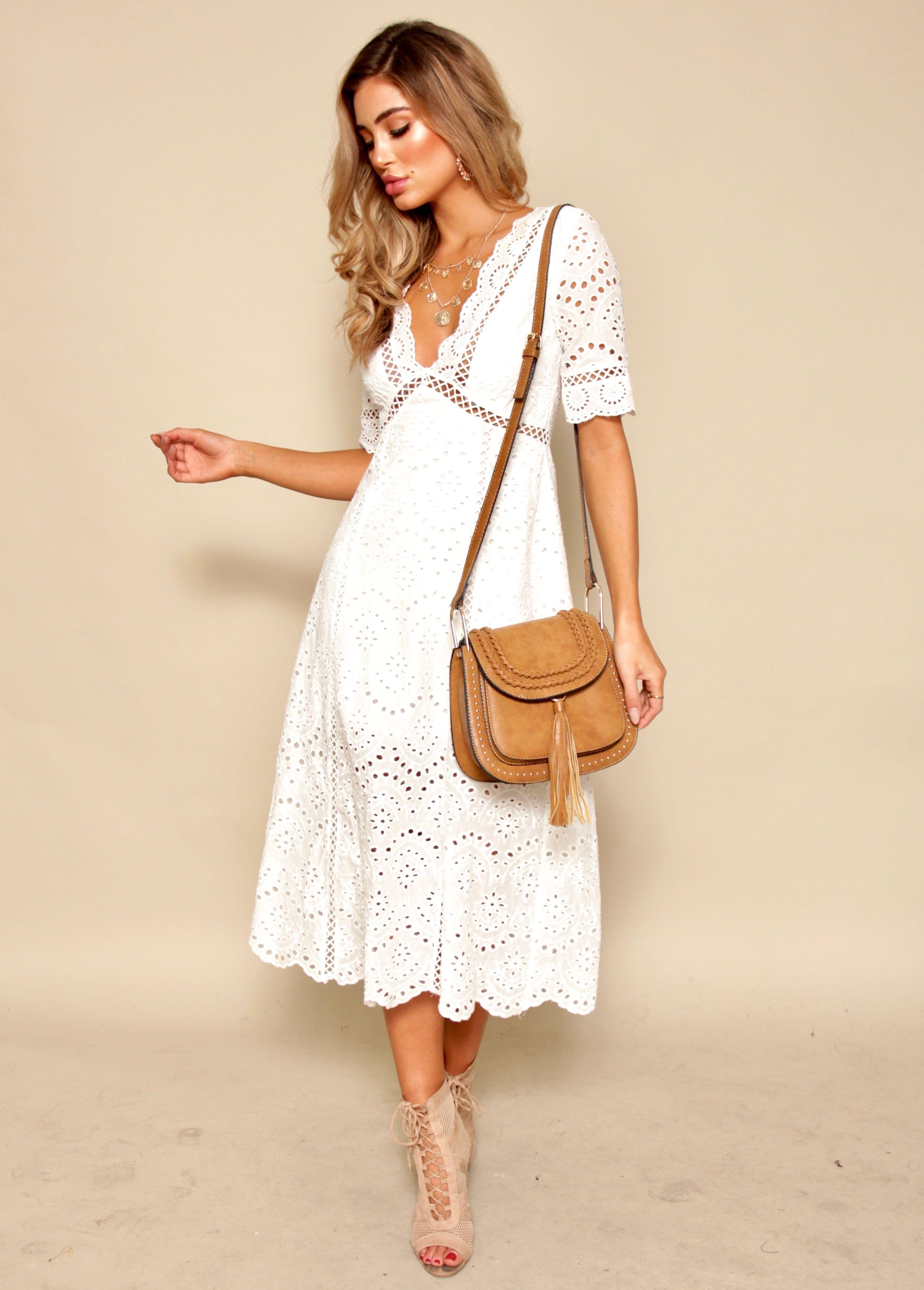 02eefa8e69e Marlow Midi Dress - White Anglaise   Fashion   White midi dress ...
