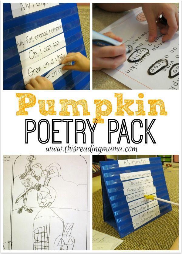 pumpkin poetry pack free reading activities free poems kindergarten themes teaching. Black Bedroom Furniture Sets. Home Design Ideas