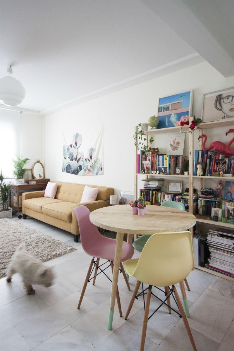 Colores para pintar un piso peque o con tonos pastel - Pintar piso colores ...