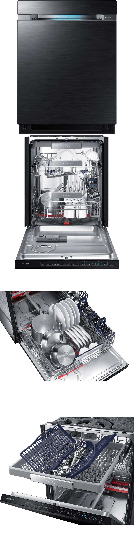 Dishwashers 116023 Samsung Black Stainless Dishwasher W Waterwall