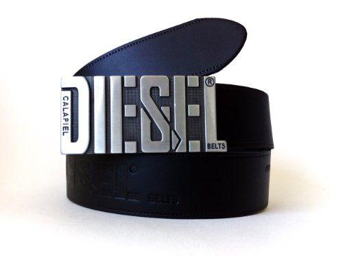 Ceinture cuir homme Motor diesel véritable belt calapiel boucle acier e2945b9c818
