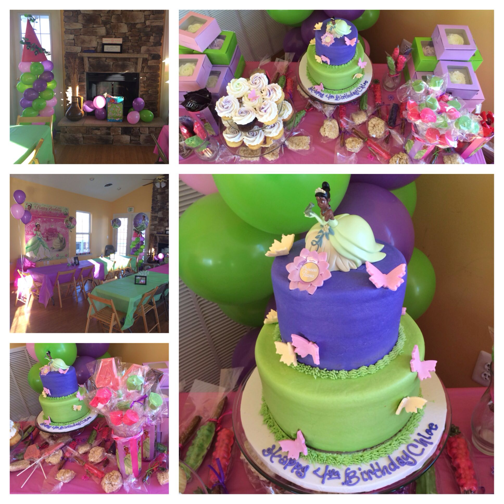 Princess Tiana Birthday Party Collage Our Parties Pinterest