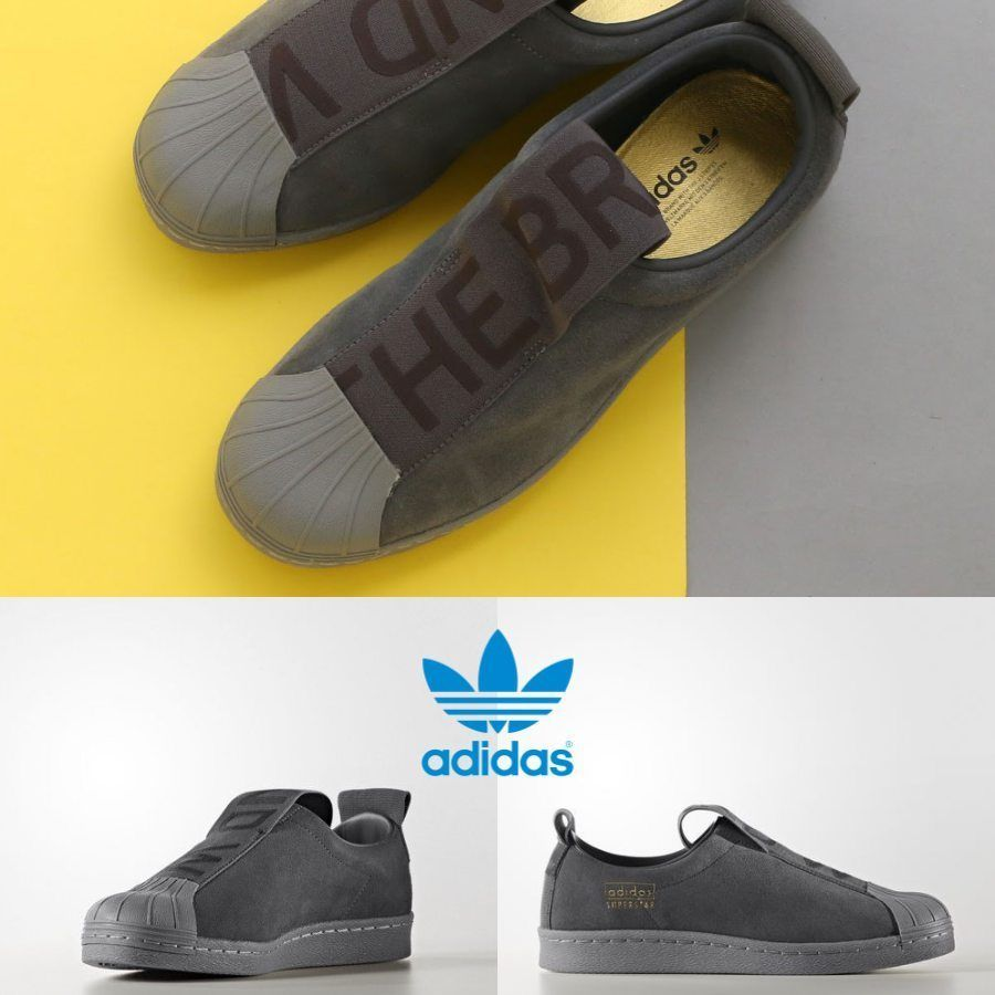 hot sale online f9183 d64c0 Adidas Original Superstar BW3S Slip On Sneakers Grey CG3695 SZ 4-11 Hiphop