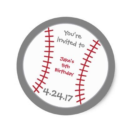 #party - #Baseball Birthday Sticker- Special Bday Labels