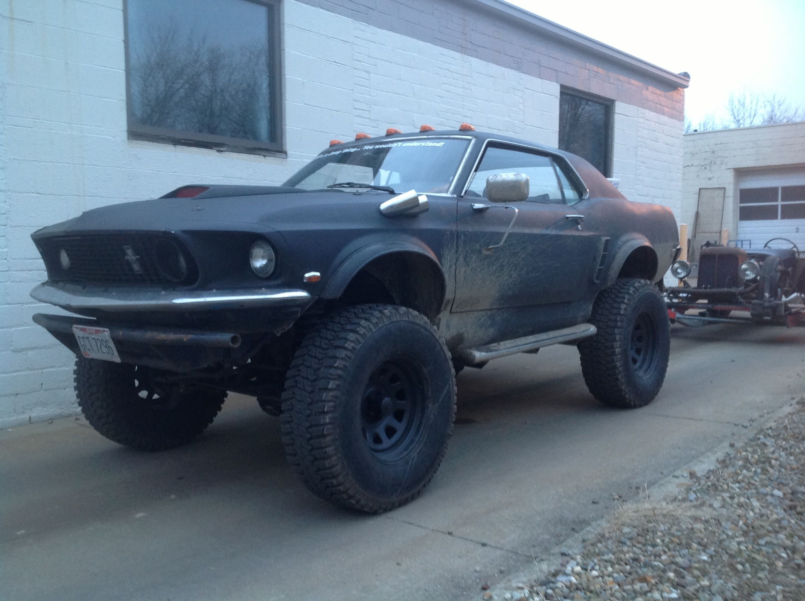 My 69 mustang 4x4 on cherokee chassis vehicle goals lifted cars