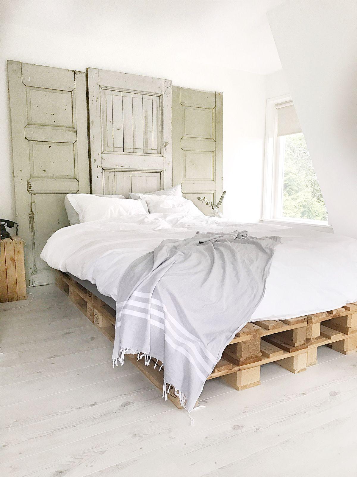 slaapkamer inspiratie bedroom pallets interior slaapkamer interieur