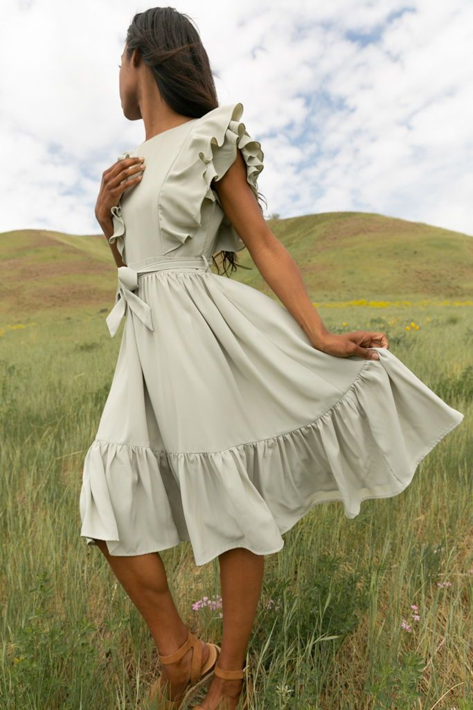 17 sage green bridesmaid dresses modest ideas