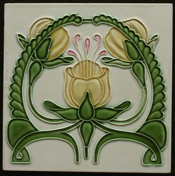 De Dyle Art Nouveau Tile Art Nouveau Tiles Art Nouveau Tile Art