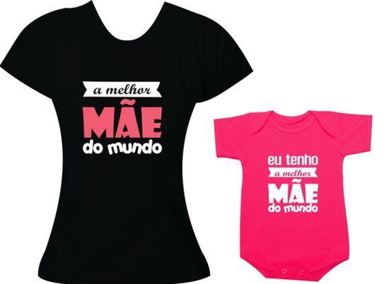 f301ba19e195bd Camisetas com frases divertidas e criativas para mãe e filha ...