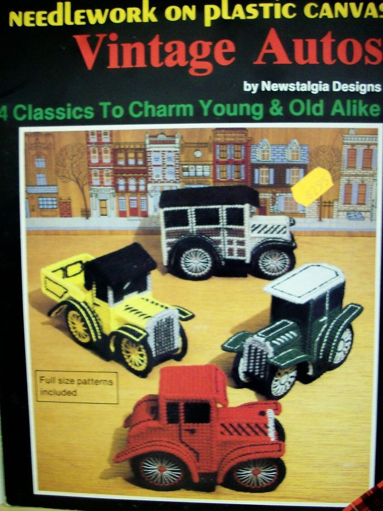 Vintage Autos by Newstalgia Designs Plastic Canvas leaflet NEW ...
