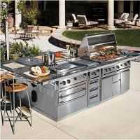 The Talos Outdoor Cooking Suite Is An Open Air Professional Kitchen Custom Built To Your Specific Needs The Han Outdoor Kitchen Best Outdoor Grills Bbq Grills