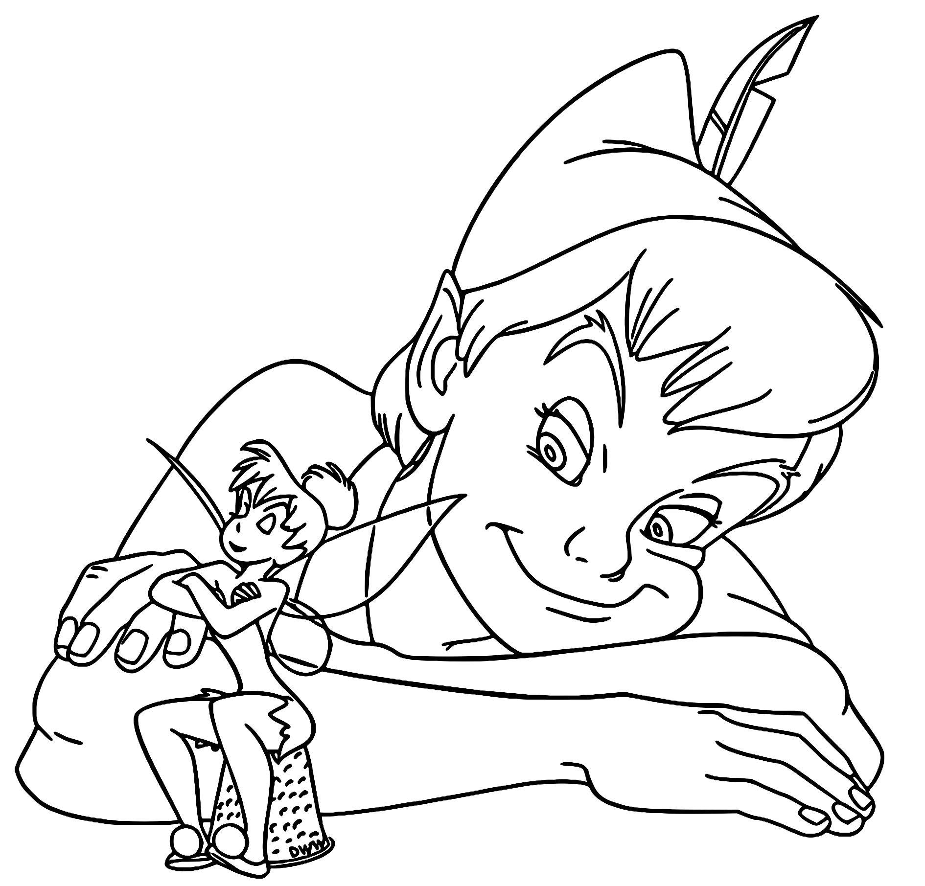 Peter Pan & Tinker Bell Coloring Pages | Pinterest