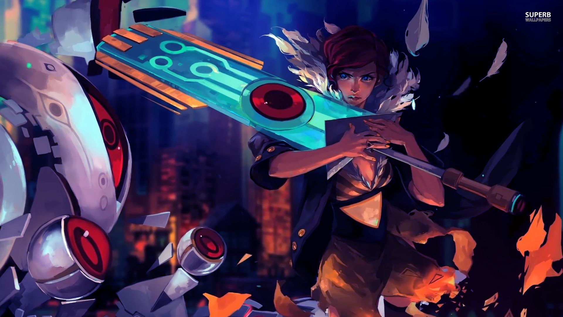 Transistor Game Anime C Wallpaper 1920x1080 169828 Wallpaperup Arte