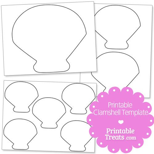 Printable Clamshell Template Seashells Template Clamshell Quilt Templates Printable Free