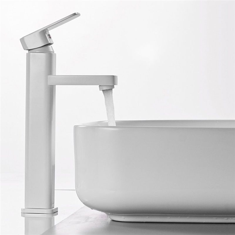 High White Basin Faucet Modern Simple Bahtrom Sink Tap Bathroom Sink Taps Sink Taps Sink