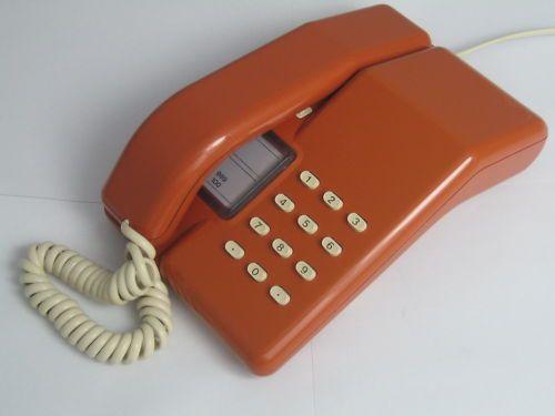 ce8bb4a99 Orange BT Viscount Telephone (80s Retro Vintage Phone)