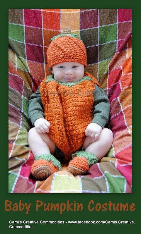 Crochet+Costume+Pattern | Crochet Baby Pumpkin Costume Digital ...