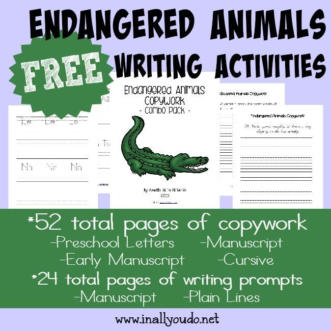 FREE Endangered Animals Writing Activities printables Activities - best of free coloring pages of endangered animals