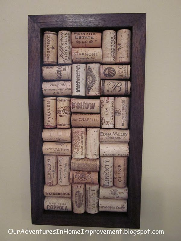 Our Adventures in Home Improvement: Wine Cork Art - How to tutoral