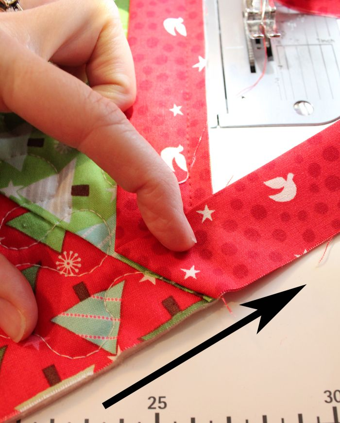 Quilted Christmas Tree Skirt Patterns: Binding Tutorial For Quilted Christmas Tree Skirt Pattern