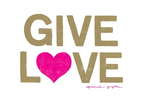 Give LOVE people!! Give Love Vinyl Decal | Yoga Bumper Sticker | White | Spiritual Gangster