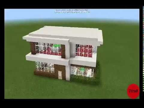 this time ill show you how to make modern house minecraft pe tutorial simple and easy make modern house minecraft pe tutorial