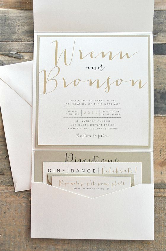 Wedding Invitations Pocket Diy Supplies